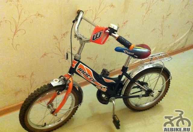 Велосипед детский со съемными опорными колесами