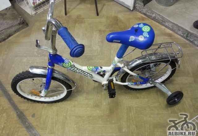 Детский велосипед орион с боковыми колёсами