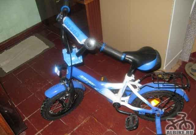 """Велосипед """"Safari proff 2-х колесный"""" синего цвета"""