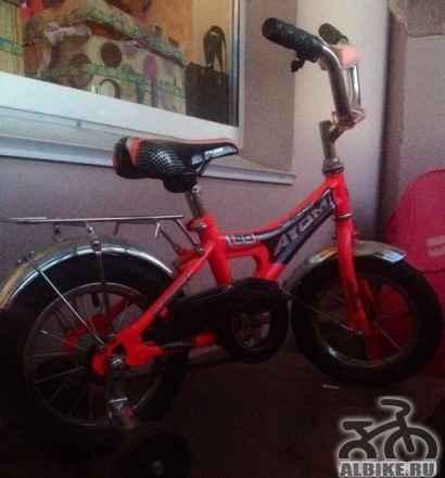 Велосипед для девочки(розовый) 3-6лет